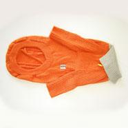 Maglione Cane Arancio/Grigio 50